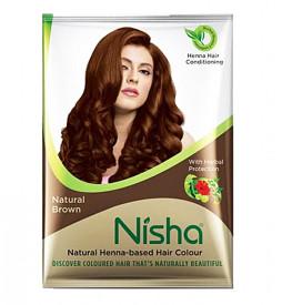 Хна-краска Nisha натурально-коричневая